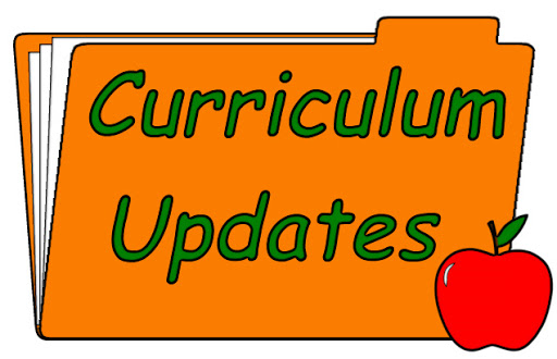 A picture of a file folder with the words curriculum updates