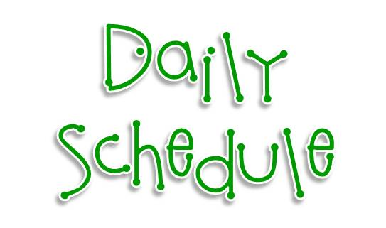 Picture of the words Daily Schedule