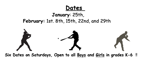 Bobcat Baseball Winter Camp for K-6!
