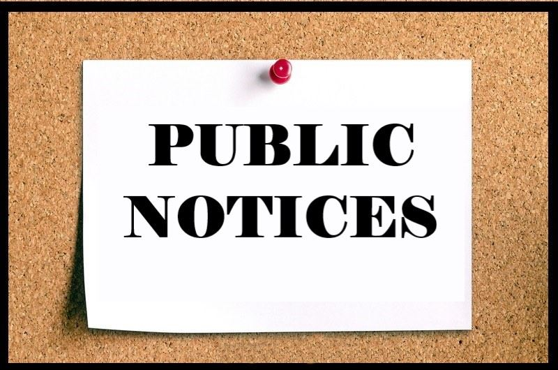 Public Notices / Home