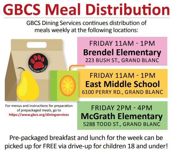Food Distribution Flyer - January 2021 (click here for more info)